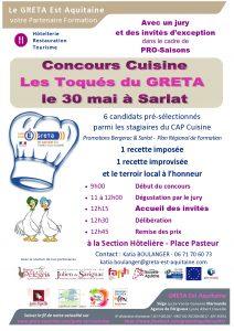 Concours pour la promo cap cuisine 2018 r seau greta for Vae cap cuisine