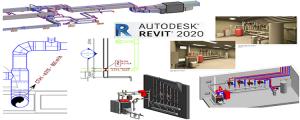 Logiciel REVIT MEP CVC - Collaboratif  - Réaliser la modélisation d'une installation CVC Sanitaire