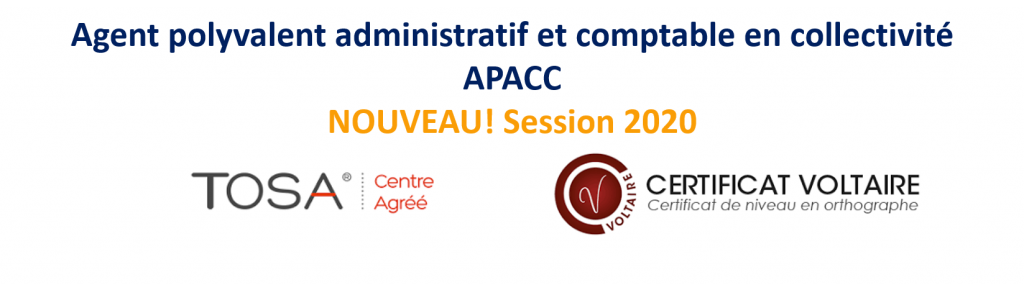 Agent Polyvalent Administratif  et Comptable en Collectivité (APACC)
