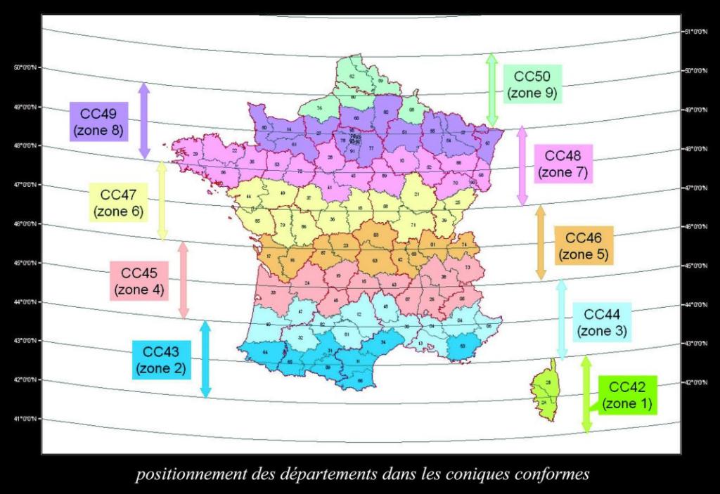 Systèmes français de coordonnées géodésiques